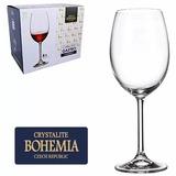 Jogo Taça Vinho Bohemia Cristal C/ Titânio 580 Ml - Cx 6 Pç