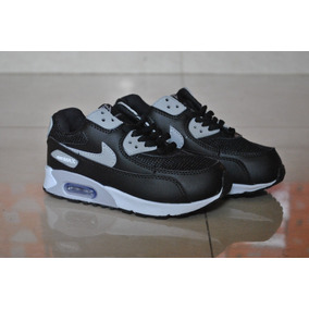 a02655ad42980 Kp3 Zapatos Nike Air Max 90 Negro Gris Para Niños 30-35. Bs. 1.900