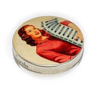 Pastillero Metálico Multiuso Lata Mujer 60 Misopros