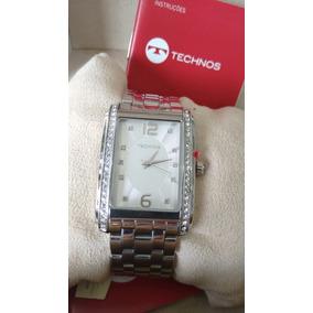 Relógio Feminino Technos Prata Quadrado 2035ff1k