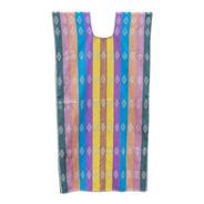 Huipil Tradicional, Textil Rayado Multicolor, Aripo