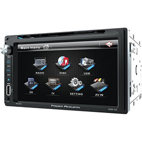 Power Acoustik Pd 651 6.5 Double-din In-dash Lcd Touchscree