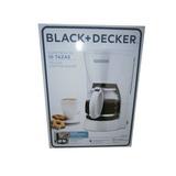 Cafetera 10 Tazas Blanca Filtro Permanente Black&decker