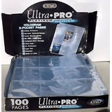 Caja De 100 Hojas Micas 9 Espacios Ultra Pro Platinum Yugioh