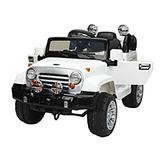 Auto Jeep A Bateria 12v 2 Motores Mp3 Control Luces Sonidos
