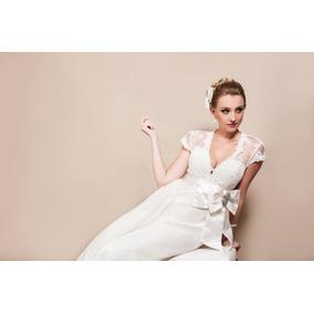 Vestido De Noiva Off White Sereia, Com Cauda Removível