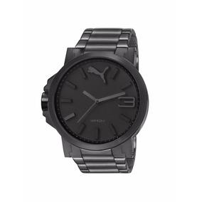 Relógio Puma Ultrasize Aço Grafite ( Preto ) - 12x S/juros