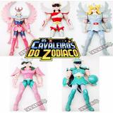 Coleção 5 Boneco Cavaleiros Do Zodiaco Seya Hyoga Shiryu Iki