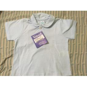 Franela Camisa Bebe 6 Meses Azul Clarito Marca Valenri
