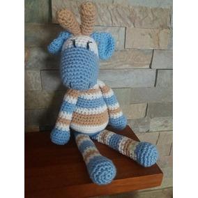 Jirafita Amigurumi Crochet En Hilo