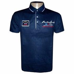 Camisa Polo Paul & Shark Azul Marinho Ps55 - Frete Grátis!