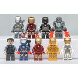Kit 9 Minifigures Iron Man - Homem De Ferro - Frete Grátis