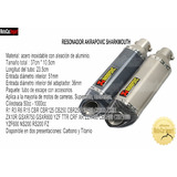 Tubo De Escape Resonador Akrapovic Sharkmouth Honda Yamaha