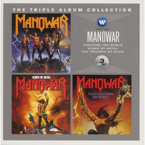 Cd Box Manowar Triplo