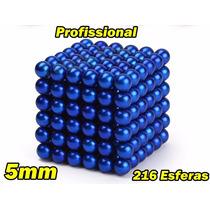 Neocube Cubo Magnético 216 Esferas 5mm Imã Neodímio Azul