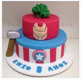 Bolo Super Heroes! E Muitos Temas Mais! 100% Comestível!!!