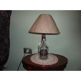 Abajur De Garrafa De Whisky Chivas Regal Cupula Tecido Juta