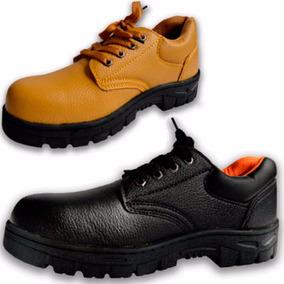 Zapato De Trabajo Sin Puntera Suela Reforzada Negro Amarillo
