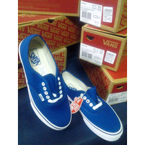 Zapatillas Vans Authentic Azul Originals Talla 39,40,42 Y 43