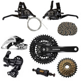 Kit Bike 21v Shimano Pedivela Tourney Cambio Ty300 Rapi Fire