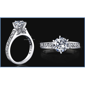 Anillo De Compromiso Diamante Natural .15ct Oro 18k -50% 331