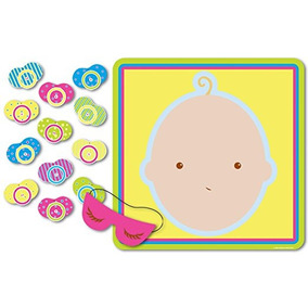 Beistle 66675 Pin El Chupete Baby Shower Juego, 17 X 18.5