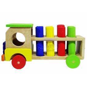 Brinquedo Educativo Infantil De Encaixe Caminhão Mdf Fp