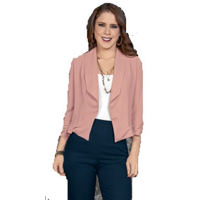 Saco 550141 Blazer Rosa Palo Moda Nacional
