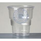Vaso De Plástico Descartable Glass De 240cc Cristal X 20 Un