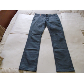 Pantalon Hombre Jean Azul Claro Zara Talle 42 .nuevo
