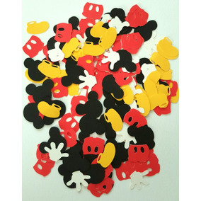 Confetti Papel Picadol Mickey Minnie Entrega Inmediata