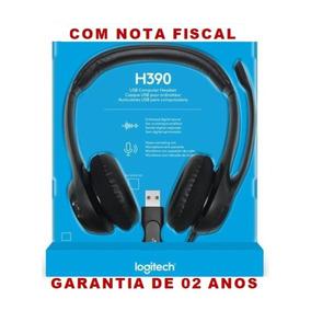 Logitech H390 Headset Usb Voip Micro Fone Volume Pc Notebook