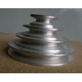Poleas Escalonada Para 4 Velocidades De Aluminio