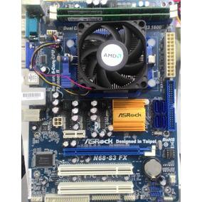 Kit Placa Mãe + Cpu Amd Dual Core 2.8ghz Am3 4gb