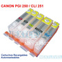 Cartuchos Recargables Canon Pixma Ip7220 Pgi 250 Cli 251