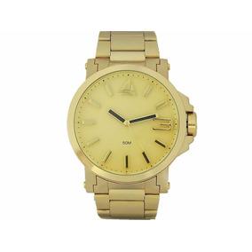 Relógio Dourado Masculino Marinus Original Aço Náutico + Cai