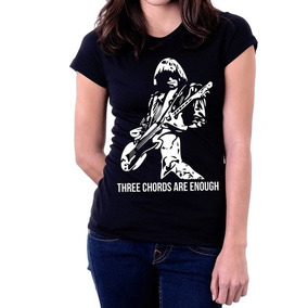 Camiseta Blusa Feminina Johnny Ramone Ramones