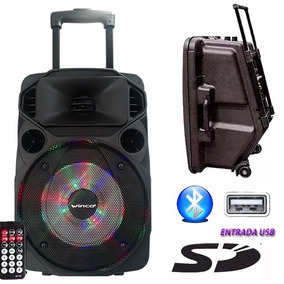 Bafle Parlante Winco Usb Luces Bluetooth + Microfono Karaoke
