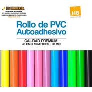 Papel Contac Autoadhesivo Colores Premium Rollos 0.45x10mts