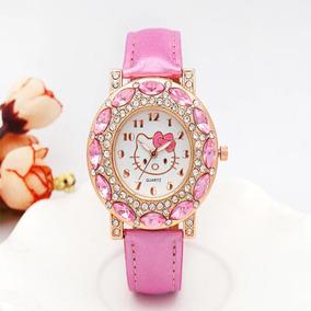 13db8828237 Relogio Infantil Rosa Hello Kitty Novo A Pronta Entrega!! - Relógios ...