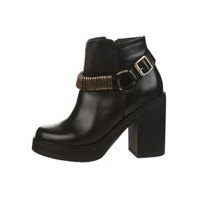 Botas De Cuero Color Negro Talle 38. Cod. 8868