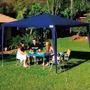Tenda Praia Gazebo 3x3 Azul Mor Barraca Camping C/ Sacola