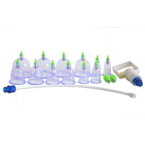 12 Copos Vácuo Terapia Sucção Ventosa Estética Envio Express