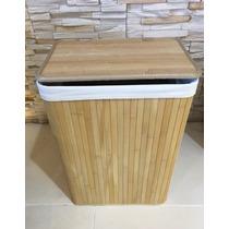 Guarda Ropas De Bamboo Con Tela Grande