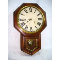 Reloj Pared Ansonia Americano Circa 1880 Funcionando (1743)
