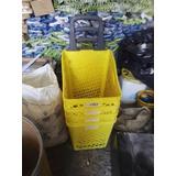 Canastilla Plastica Mercado Canasto Para Mercar Ruedas