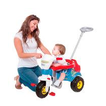 Triciclo Infantil Bichos Azul Com Haste Som Aro - Magic Toys