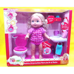 Little Mommy Interactiva Hora De Ir Al Baño Mattel Rosa