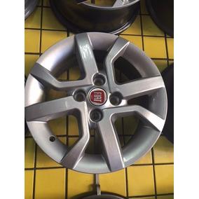 Jogo De Rodas 14 Fiat Moob Prata E Grafite Diamantada