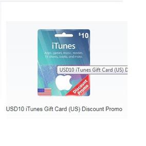Itunes Giftcard $10 Dólares Apple Usa Ipod/ipad/iphone